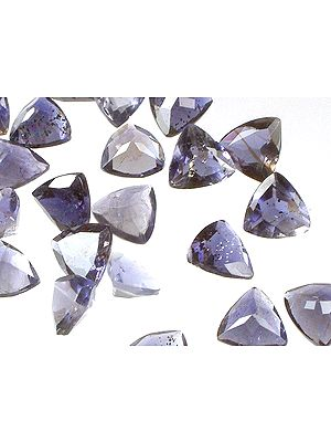 Iolite 8 mm Triangles (Price Per 4 Pieces)