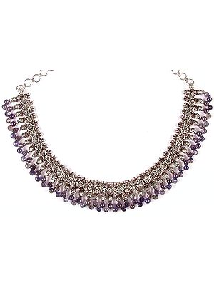 Iolite Beaded Necklace from Rajasthan