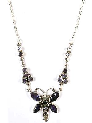 Iolite Dragonfly Necklace
