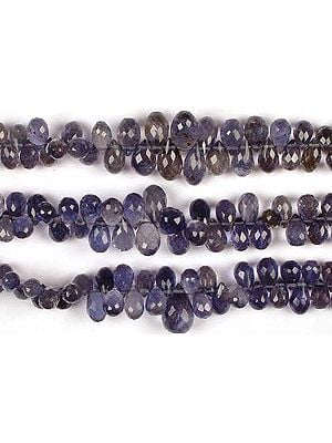 Iolite Faceted Drops