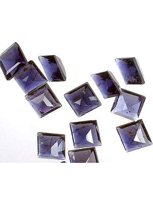 Iolite mm Squares (Price Per 10 Pieces)