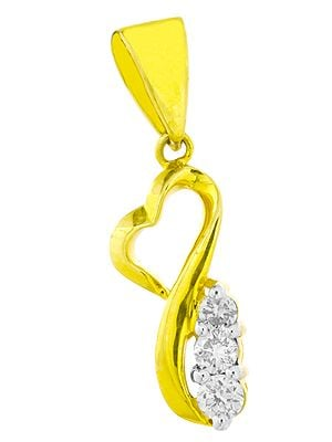 Designer Gold Pendant with Diamonds