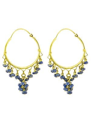 Faceted Blue Sapphire Chandeliers