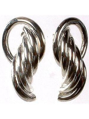 Sterling Designer Hoops