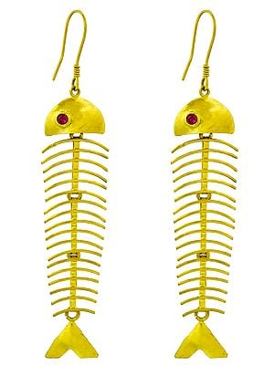 Dangling Fish Earrings