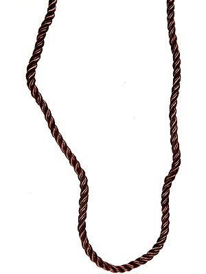 Knotted Rope Necklace with Sterling Closure