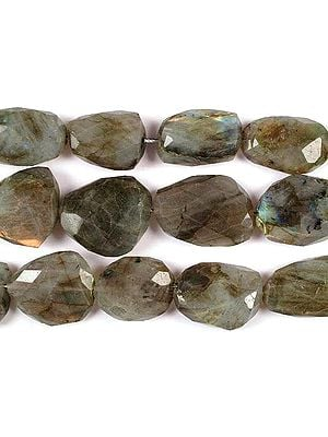 Labradorite Faceted Flat Tumbles