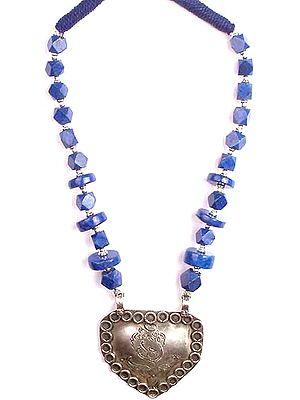 Lapis Lazuli Ganesha Necklace