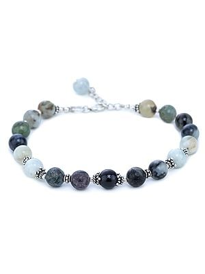 Agate Bracelet with Sterling Silver