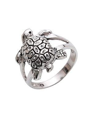 Sterling Silver Tortoise Ring