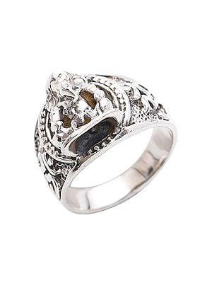 Lord Ganesha Sterling Silver Ring
