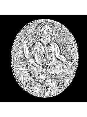 Ganesha Sterling Silver Sindoor/Roli Box