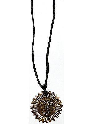 Lord Surya (Sun) Necklace with Black Cord