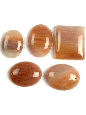 Lot of Five Drilled Cabochons