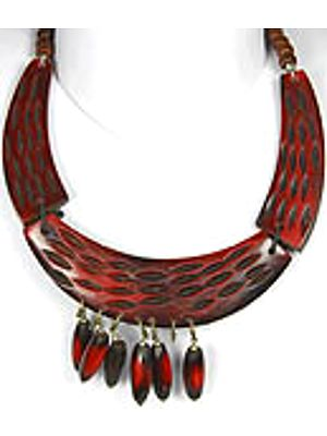 Mahogani Necklace with Dangling Beads