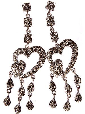Marcasite Valentine Earrings