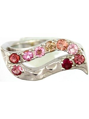 Multi-color Faceted Tourmaline Ring