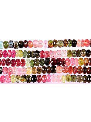 Multi-color Tourmaline Faceted Rondells
