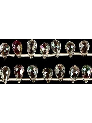 Mystic Topaz Faceted Drops
