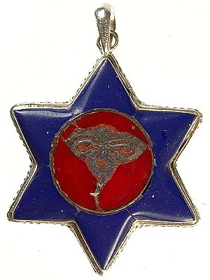 Nepalese Inlay Star Pendant