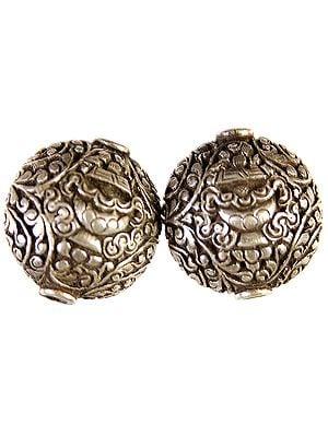 Nepalese Superfine Handcarved Vase (Ashtamangala) Beads (Price Per Piece)