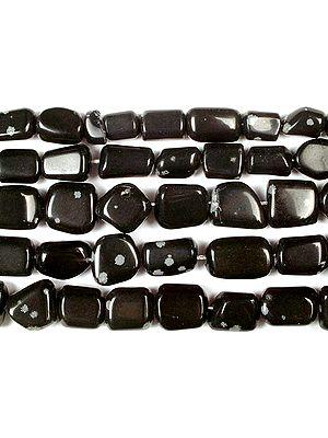 Obsidian Snow Flake Plain Tumbles
