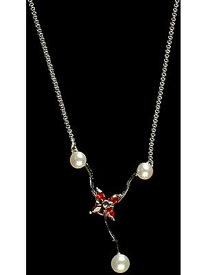 Pearl Necklace with Australian Crystal