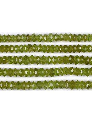 Peridot Faceted Rondells