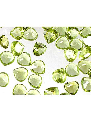 Peridot mm Heart Shape (Price Per 5 Pieces)