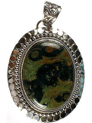 Picture Jasper Oval Pendant