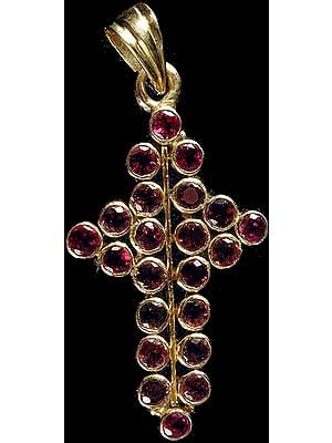 Pink Tourmaline Cross Pendant