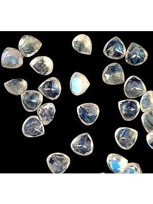 Rainbow Moonstone Heart Shapes (Price Per Pair)