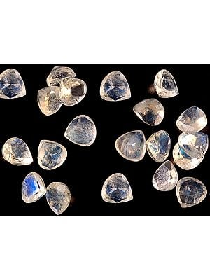 Rainbow Moonstone Heart Shapes (Price Per 5 Pieces)