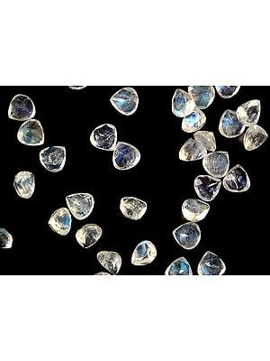 Rainbow Moonstone Heart Shapes (Price Per 3 Pieces)