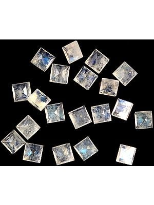 Rainbow Moonstone Squares (Price Per Pair)