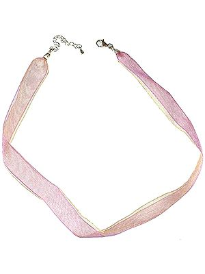 Ribbon Necklace with Sterling Closure
