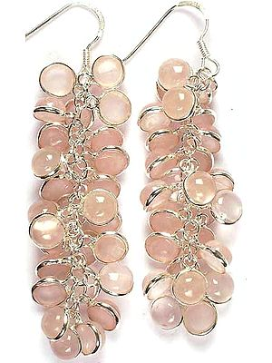 Rose Quartz Bunch Earrings