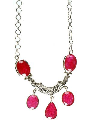 Ruby Necklace with Dangles