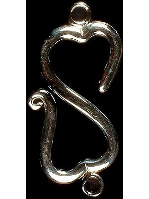 S Valentine Clasp with Rings (Price per Piece)