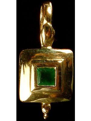 Small Faceted Emerald Pendant (Emerald = .12 Carats)