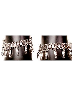 Sterling Anklets with Spikes
