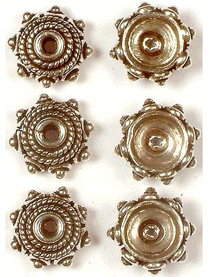 Sterling Cap Beads with Granulation