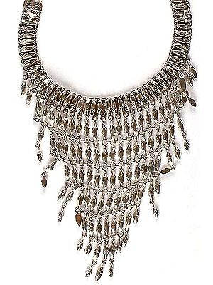 Sterling Chandelier Necklace From Ratangarhi