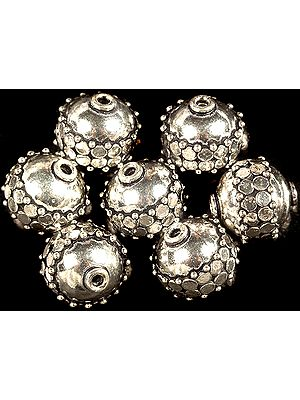 Sterling Circular Bead (Price Per Piece)