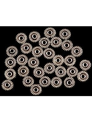 Sterling Circular Beads (Price Per Dozen)