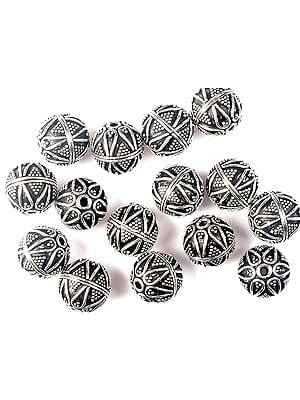 Sterling Designer Beads<br>(Price Per Four Pieces)