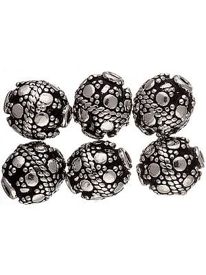 Sterling Fine Beads with Knotted Rope (Price Per Pair)
