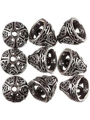Sterling Fine Lattice Caps (Price Per Pair)
