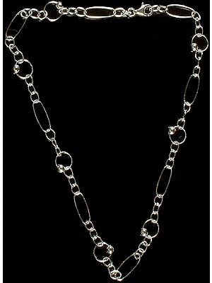 Sterling Fine Link Chain with Fish Lock