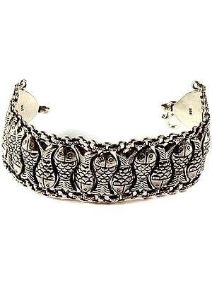 Sterling Fish Bracelet